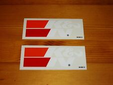 TWO K&N stickers decals in WHITE NASCAR Performance Air Filters Racing OEM