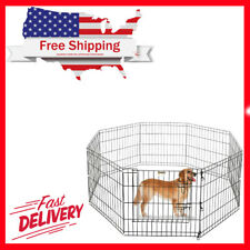 New listing Portable Folding Pet Playpen Dog Puppy Fences Gate Home Indoor Outdoor Fence New