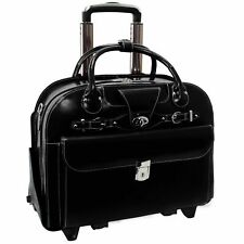 McKlein  Fly Through Checkpoint Wheeled Ladies' Laptop Briefcase Rolling New