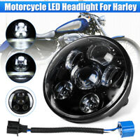 5.75'' Motorcycle LED Headlight Projector Hi-Lo DOT For Harley Davidson For Dyna