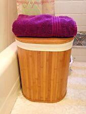 Oval Bamboo Hamper Basket Laundry Basket,Storage Basket Collection Basket