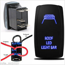 12V Car Laser Rocker Switch Backlit Roof Led Light Bar On-Off Switch For 4x4 Suv