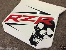 ***Large Polaris RZR Sticker Decal - Red and Black with Skull***