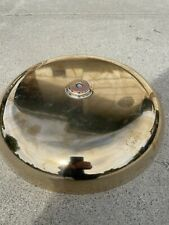 """1880's Original 15"""" Gamewell Solid BRASS BELL for Wood Cased GONG very heavy"""