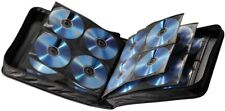 Hama 160 CD/DVD Wallet Storage Carry Case + Handle Nylon Black
