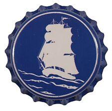 100 Blue Schooner Home Brew Beer Bottle Crown Caps Sailing Decoration Art Crafts