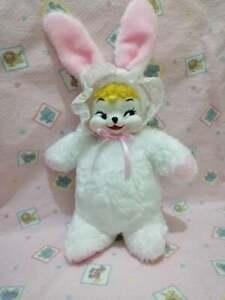 """vintage rubber face plush bunny 12"""""""