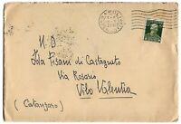 1929 - Morte V.E.II - cent 50  - Sass 239 - isolato per Vibo Vaentia nel 1929