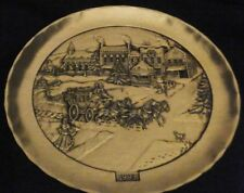 Wendell August Forge Bronze Christmas Plate 1993 A Victorian Christmas  #291