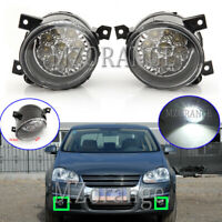 LED Left & Right Side Front Fog Light Lamps For VW GOLF MK5 GTI JETTA 2005-2009
