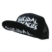 Suicidal Tendencies OG White Logo Flip Bill Snapback Trucker Hat badhabitmerch