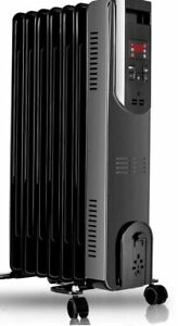 Air Choice Electric Radiator Heater - 1500W Oil Space Heater 250 Sq Ft Coverage
