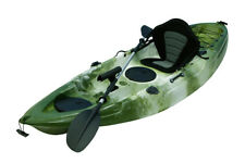 Fishing Kayak Sit on Kayaks 5 Rod Holders Deluxe Seat & Paddle + Dry Bag - Green