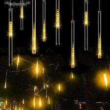 144 LED String Lights Meteor Shower Rain 8Tube Snowfall Xmas Tree Garden Outdoor
