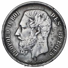 Rare 5 francs 1866 Léopold II Belgique - Argent