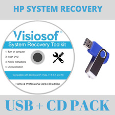 HP System Recovery Boot Repair Reset Restore Windows 10 8 7 Vista XP CD DVD USB