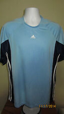 Large Adidas Argentina Blue Raglan Short Sleeve Casual Athletic T-Shirt Soccer