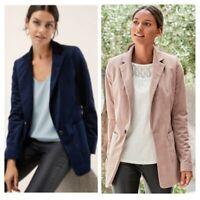 Women's Next Velvet Blazer Jacket Pink & Navy Blue UK Sizes 6 to 22