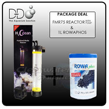 D&d H 2 Ocean Kit FMR75 lit fluidisé Media réacteur & rowaphos & Pompe filtre à sable