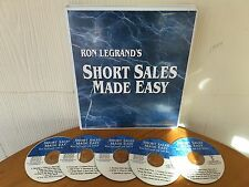 Short Sales Made Easy Real Estate Course By Ron LeGrand - MANUAL & 5 CD PACKAGE!