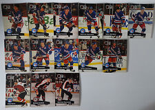 1991-92 Pro Set Series 1 New York Rangers Team Set of 14 Hockey Cards