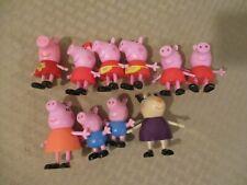 Lot of 10 Peppa Pig Figures Lot