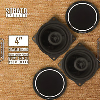 CT Sounds Strato 4 Inch 2 Way Silk Dome Full Range Car Coax Coaxial Speakers Set