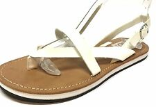 "DV by Dolce Vita ""Genny"" White Leather Thong Slingback Sandals Womens Size 6.5 M"