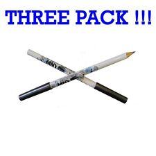 Lot de trois Maybelline MNY Mon crayon eye-liner '020' Gris