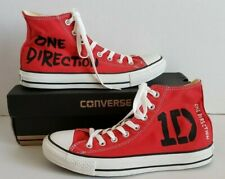 Custom Converse One Direction red unisex men 8 woman 10 M9621 all star high top
