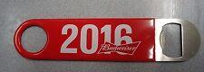 Budweiser 2016 Bartender Bottle Opener Commercial Grade Rubber Handle Red New