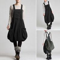 Women Strappy Casual Suspender Shirt Dress Midi Dress Summer Sundress Plus Size