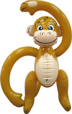 FUN INFLATABLE MONKEY 61CM ANIMAL ZOO PARTY DECORATION