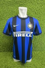 2009 2010 INTER MILAN HOME FOOTBALL SHIRT S SMALL NIKE PIRELLI BLUE BLACK RARE