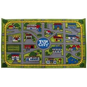 Kids Play Mat FUN CITY Track 100cm x 150cm Town Childrens Floor New Activity Mat