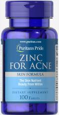 Puritan's Pride Zinc for Acne - 100 Tablets