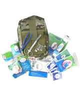 KOMBAT TACTICAL DELUXE FIRST AID KIT MEDIC WEBBING POUCH,600D BTP CAMO,PLASTERS
