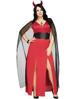 Devilicious Womens Red Devil Lucifer Plus Size Halloween Costume