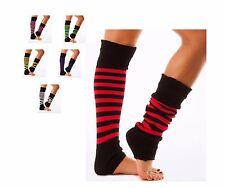 Striped Leg Warmers Fashion & Dance Colour Ringer Striped Leg Warmers- UK MADE