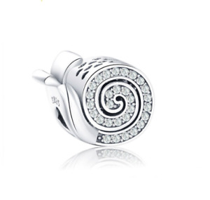 925 Sterling Silver Little Snail Animal Bead Charm