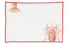 1 Tischset Lobster Hummer weiss koralle 35 x 50, Blanc Mariclo Toskana