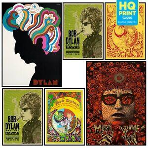 BOB DYLAN VINTAGE BEST ROCK BAND Photo Poster Art Print DECOR PSYCHEDELIC 60's