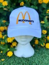 Rare VTG 80s White McDonalds Trucker Snapback Work Fast Food Baseball Hat Cap