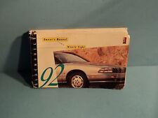 92 1992 Oldsmobile Ninety Eight/98 owners manual