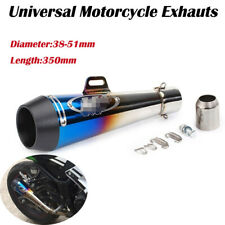38-51mm Motorcycle Universal Exhaust Muffler Pipe SlipOn Racing Street Dirt Bike