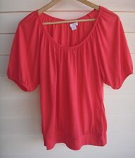Cotton On Women's Pink-Red Short-Sleeve Top - Size S