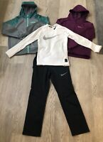 Boys S Track Pants 2 M Zip Hoodies Therma Fit & S Compression Shirt All Nike 374