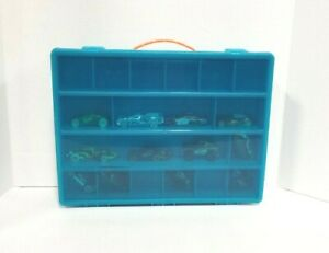 Toy Storage Organizer - Compatible With Die Cast - Turquoise Case