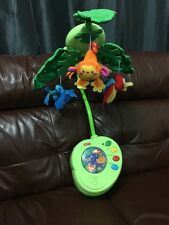 Fisher Price Rainforest Peek A Boob Leaves Baby Cot Mobile Melodies No Remote
