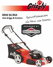 BENZIN RASENMÄHER BRM 56 BSA 4in1 Briggs & Stratton GRIZZLY Motor Mäher MulchB&S